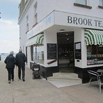 Frontage of the Brook Tea Rooms.