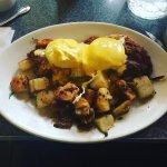 Eggs Benedict with Corned Beef Hash