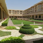 All the rooms look into this courtyard