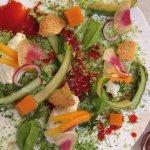 L'entrée du menu végétarien