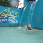 Waterfall in Slide pool