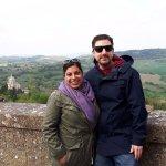 Aisha and Ako on their honey moon, back to Cortona after 11 years