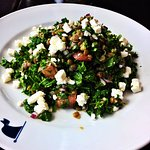 Local Kale & lentil salad tossed with tomatoes, red onions and feta cheese