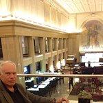 "Concierge balcony ""floor"" overlooks lobby, beautiful"