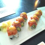 Most delicious sushi roll ever. Salmon Motoyaki Roll- Pacific Rim Lobby Lounge