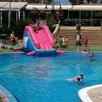 one of the 3 pools, water slide not a permanent fixture.