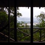View of Napo River from the private cabin/porch.