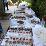 some of the food at our arrival party
