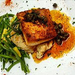 Pan Roasted Wahoo with brown butter, lemon and capers