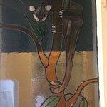Possum stained glass window. Quaint.