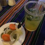 Mojito and spicy pickles