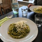 The paste with Pesto