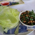 Pork and peanut san choy bau