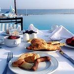 La piscine à l'heure du petit déjeuner