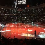 Pre-game intros at a Ducks playoff game - April 26, 2017