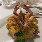 The prawn risotto