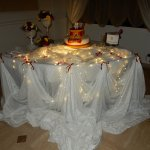 tavolo della torta 18 anni