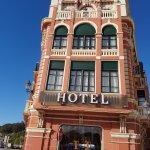 Fachada del HOTEL MARINA al entrar a Ribadesella