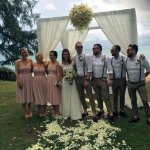 Bride, groom, best men and bridesmaid