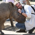 Not every day, one gets the opportunity to hug a rhino