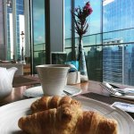 Breakfast with a view from the 22nd floor