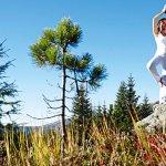 Yoga am Berg Wochen im Frühling und Herbst