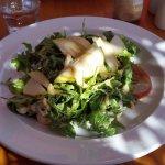 Panera Insalata – chicken, pear, rocket and gorgonzola topped with honey mustard dressing