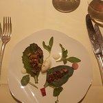 Tartare of beef, oyster leaves, horseradish & garden leaves