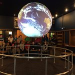 In Science On a Sphere, explore data visualizations of Earth, Mars and more.