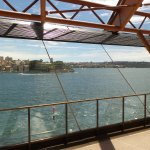 From inside the opera house looking out to the harbor