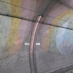 Im U-Bahntunnel.
