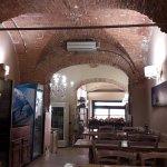 La pizzeria con los techos abovedados