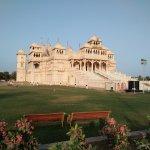 Shri Hari mandir temple view from garden