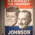 Kennedy and Johnson Political Sign