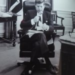 Photograph of JFK in Oval Office