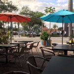 Safire Asian Cuisine dining courtyard in Lake Worth, FL