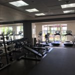 Onsite fitness facility was very nice