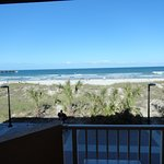 Looking straight out to the beach from patio