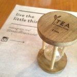 Reloj de arena para infusión de té