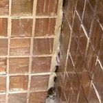 Joints de salle bain qui s'effritent sur autre mur db