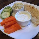 Hummus and Tzatziki
