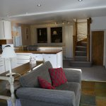 Poppy Cottage No. 1 open planned area with open stairs to first floor