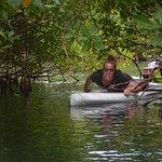 Me crawling through the mangroves