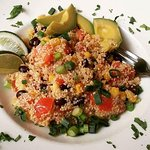 Quinoa salad. Forget its exact name on the menu. But it was so delicious!!!