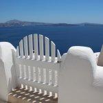 Petite terrasse avec vue sur la Caldera.