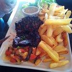 Steak frites (très cuit à notre demande)