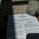 Partial wine tasting menu