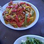 baccalà con peperoni