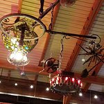 The overhead light, chandelier or mobile very primitive artsy steampunk