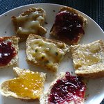 My version of tasting different homemade jams & spreads - Epiphyte B&B